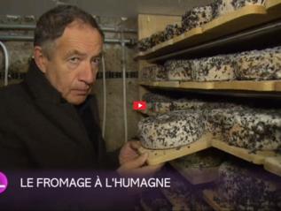 C. Luisier présente son fromage à raclette à l'Humagnerouge